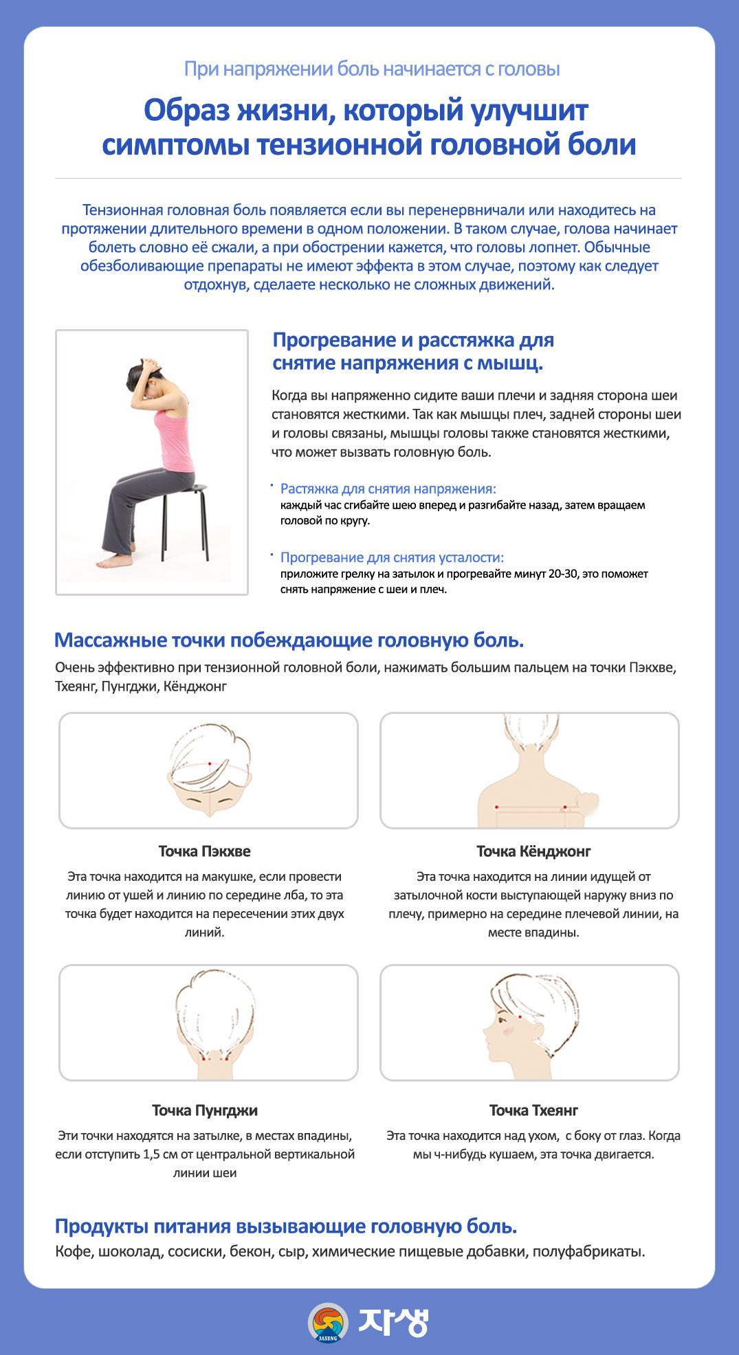 При напряжении боль начинается с головы - Центр корейской медицины Часэн